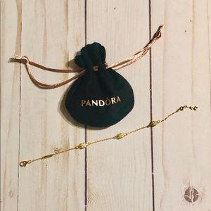 Pandora Shine Modern Lovepods Gold Bracelet